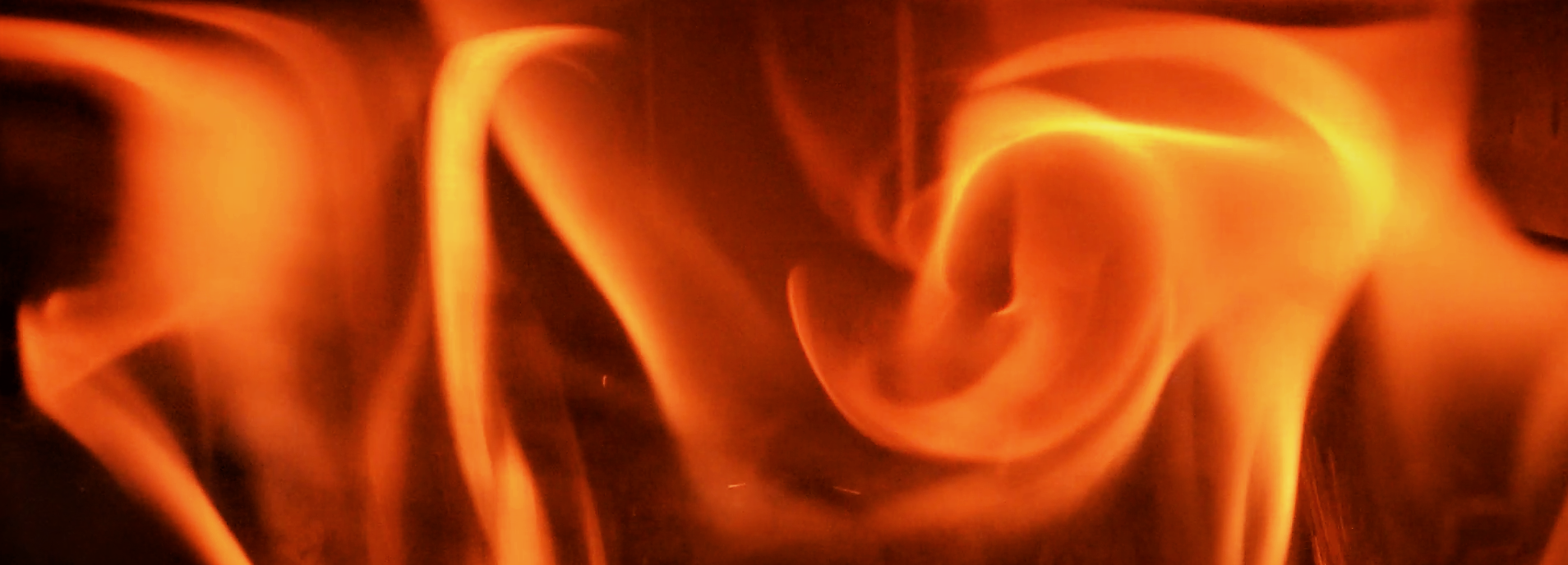 Swirling flames banner